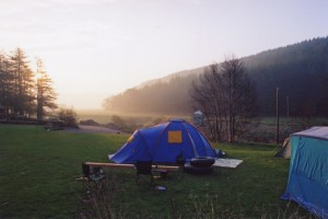 Camp in the garden