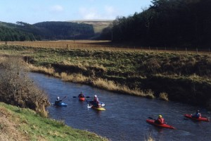 Canoes on the river