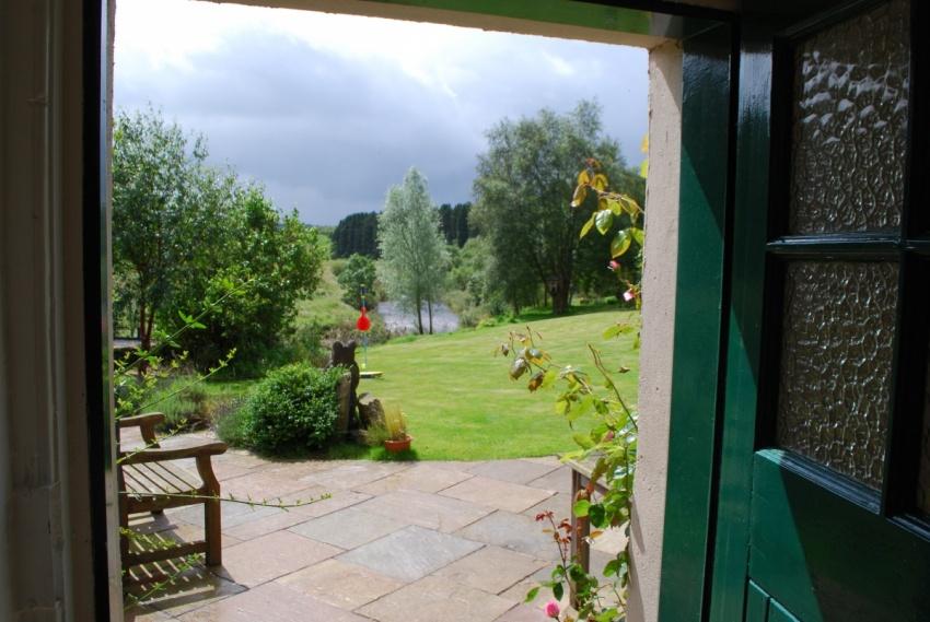 View from green door
